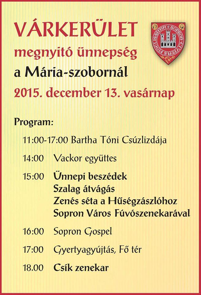 A Megújult Várkerület megnyitó ünnepsége 2015