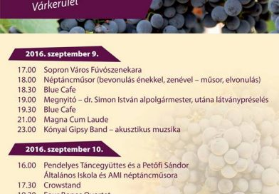 Soproni Szüret 2016 program